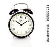 black alarm clock over white... | Shutterstock . vector #105033251