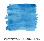 abstract blue watercolor... | Shutterstock . vector #1050334769