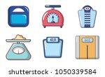 scales icon set. cartoon set of ...