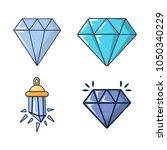 diamond icon set. cartoon set...   Shutterstock .eps vector #1050340229