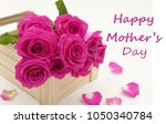 card for mom on mother's day... | Shutterstock . vector #1050340784