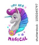 you are magical. cute cartoon... | Shutterstock .eps vector #1050345797