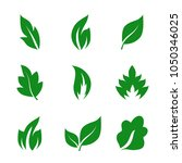 Stock vector leaf icon set isolated on white background collection of leaf icons for web site logo and app 1050346025