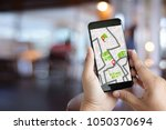 gps map to route destination... | Shutterstock . vector #1050370694