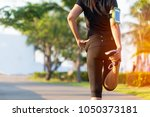 healthy life.  asian fitness... | Shutterstock . vector #1050373181