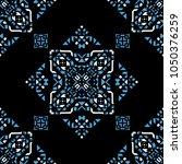 decorative hand drawn seamless... | Shutterstock .eps vector #1050376259