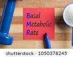 bmr basal metabolic rate... | Shutterstock . vector #1050378245