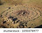 the fairy glen on the isle of... | Shutterstock . vector #1050378977