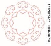 elegant vector round pink... | Shutterstock .eps vector #1050382871