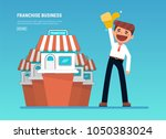 businessman want to expand his...   Shutterstock .eps vector #1050383024