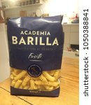 Small photo of Berlin, Germany - January 31, 2018: Academia Barilla Pasta noodles Fusilli. Academia Barilla is the restaurant-quality pasta produced by Italy's first pasta brand