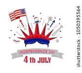 4th of july  united stated... | Shutterstock .eps vector #1050395564