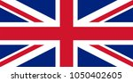 united kingdom flag simple ... | Shutterstock .eps vector #1050402605