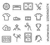sepak takraw thin line icons | Shutterstock .eps vector #1050406574