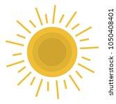 summer sun isolated icon   Shutterstock .eps vector #1050408401