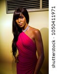 Small photo of Amsterdam, Netherlands - March, 2017: Wax figure of model Naomi Campbell in Madame Tussauds Wax museum in Amsterdam, Netherlands