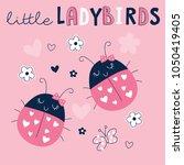 cute ladybirds ladybugs vector... | Shutterstock .eps vector #1050419405