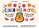 Stock vector beautiful vector illustration with design for mexican holiday may cinco de mayo vector template 1050425237