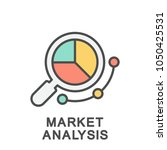icon market analysis.... | Shutterstock .eps vector #1050425531