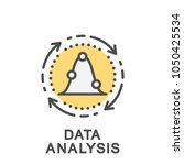 icon data analysis. extracting... | Shutterstock .eps vector #1050425534
