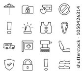 flat vector icon set   umbrella ... | Shutterstock .eps vector #1050426314