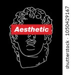 vaporwave aesthetic t shirt... | Shutterstock .eps vector #1050429167