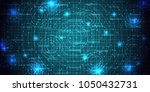 abstract cyberspace futuristic... | Shutterstock .eps vector #1050432731
