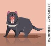 flat tasmanian devil | Shutterstock .eps vector #1050435884
