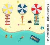 vector flat beach party poster  ... | Shutterstock .eps vector #1050435911