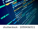 modern programming source code... | Shutterstock . vector #1050436511
