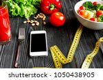 concept diet  slimming plan... | Shutterstock . vector #1050438905