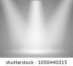 illuminated stage with... | Shutterstock .eps vector #1050440315