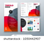 tri fold brochure design.... | Shutterstock .eps vector #1050442907