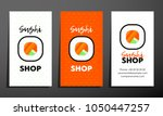 set of three sushi vertical... | Shutterstock .eps vector #1050447257