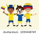 fan of ecuador national... | Shutterstock .eps vector #1050448769