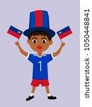 fan of liechtenstein national... | Shutterstock .eps vector #1050448841