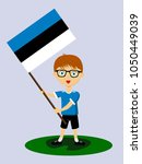 fan of estonia national... | Shutterstock .eps vector #1050449039