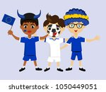 fan of european union national... | Shutterstock .eps vector #1050449051