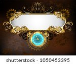 mechanical steampunk banner... | Shutterstock . vector #1050453395