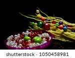 colourful showpiece objects... | Shutterstock . vector #1050458981