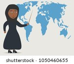 arab businesswoman or teacher... | Shutterstock .eps vector #1050460655