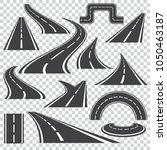 asphalt logo set in grey colors ... | Shutterstock .eps vector #1050463187