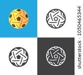 sepak takraw ball icons | Shutterstock .eps vector #1050465344