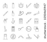 smoking linear icons set.... | Shutterstock .eps vector #1050465947