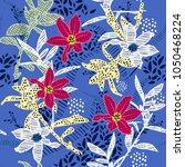 seamless  pattern vector garden ...   Shutterstock .eps vector #1050468224