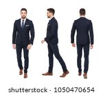 young stylish businessman front ... | Shutterstock . vector #1050470654