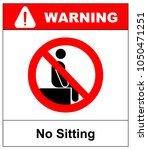 no sitting. do not sit on... | Shutterstock .eps vector #1050471251