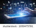 virtual screen industrial and... | Shutterstock . vector #1050475781