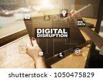 digital disruption  future... | Shutterstock . vector #1050475829