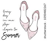 summer quote illustrated with... | Shutterstock .eps vector #1050482267